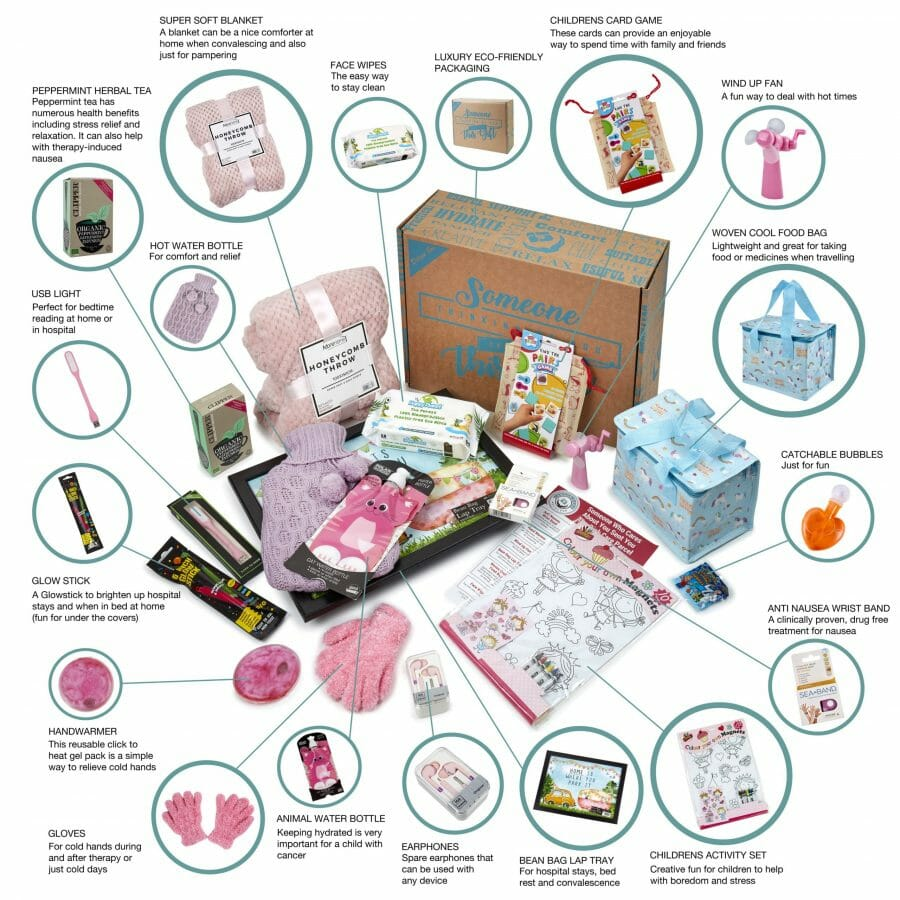 Pink Parcel For Any Child With Cancer Including Leukemia