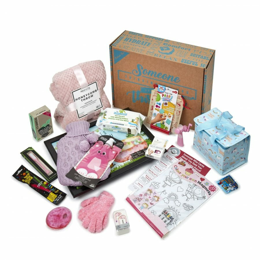 Pink Items In The Pink Parcel For Children With Cancer