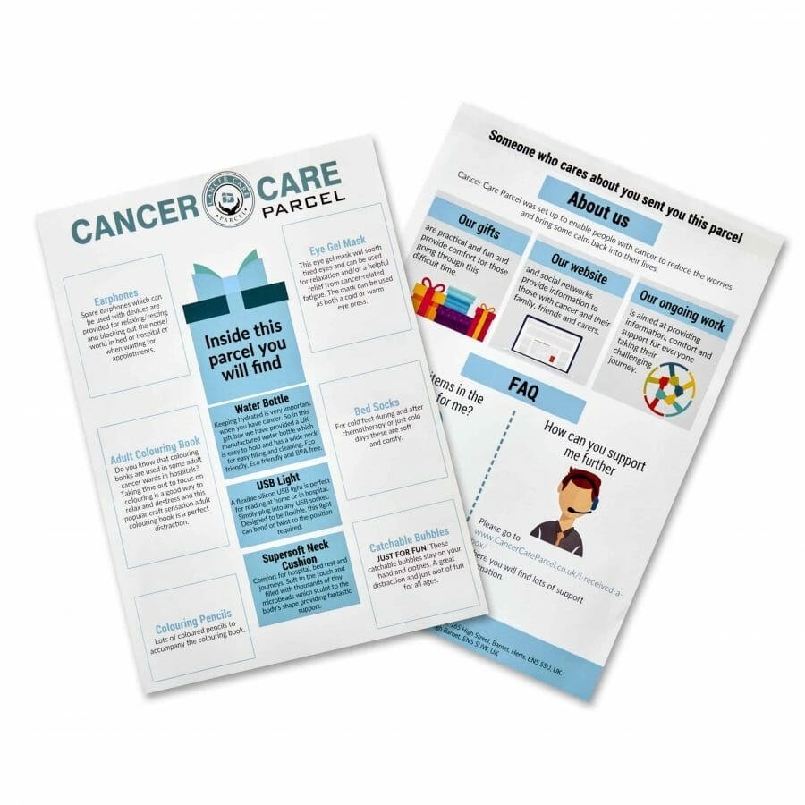 Leaflet Within Present For Cancer Patients