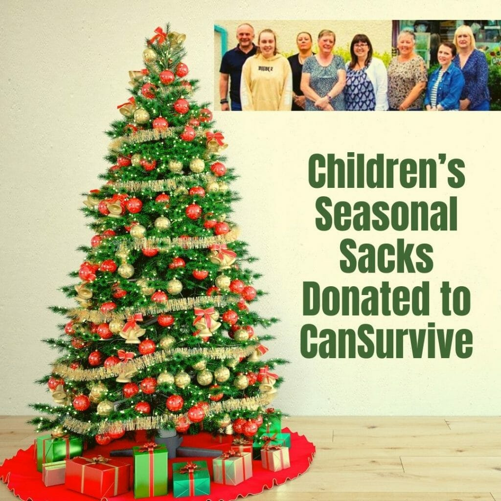 Children With Cancer Christmas Sack Donation To Cansurvive