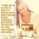 Alejandra's Life Review Cancer Care Parcel's Luxury Woman's Cancer Hamper