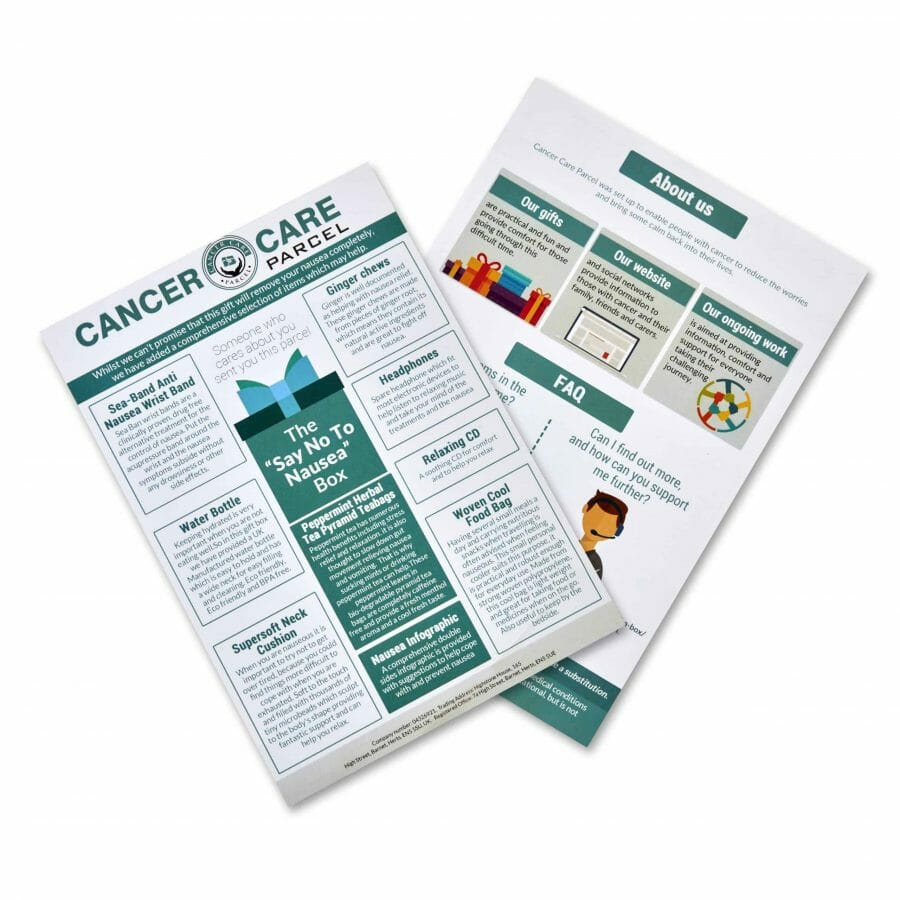 Information About The Chemotherapy Nausea Gift Box
