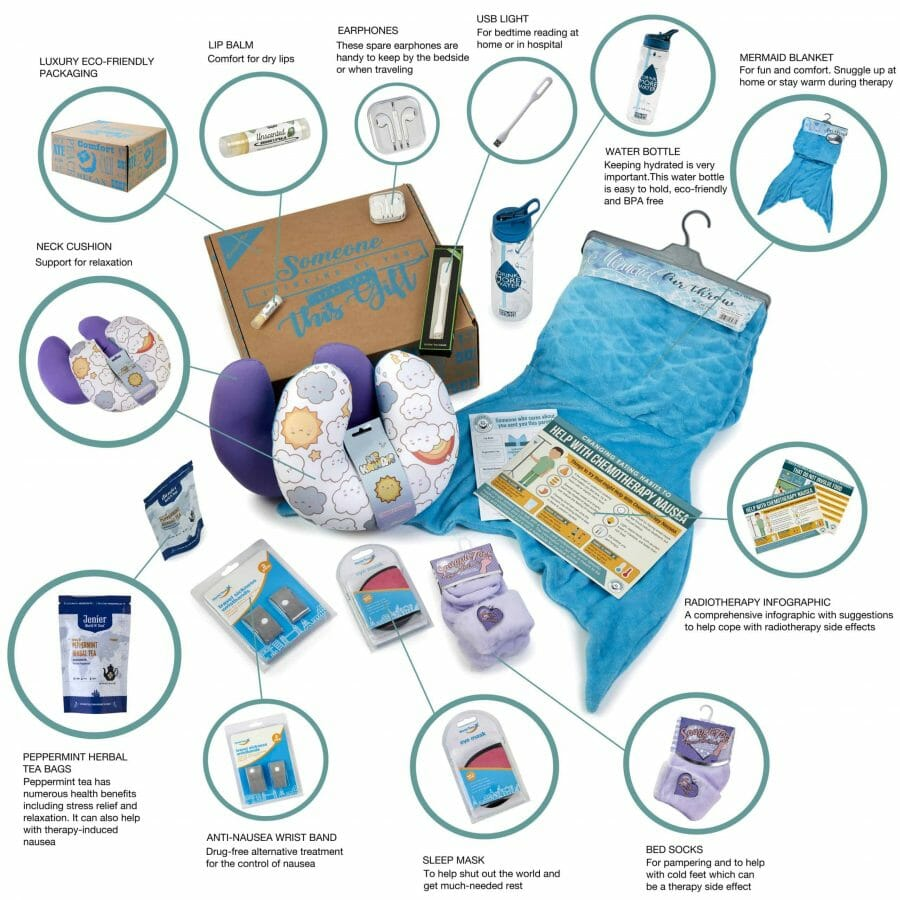 What Is In The Mermaid Chemo Survival Kit For Teenagers?