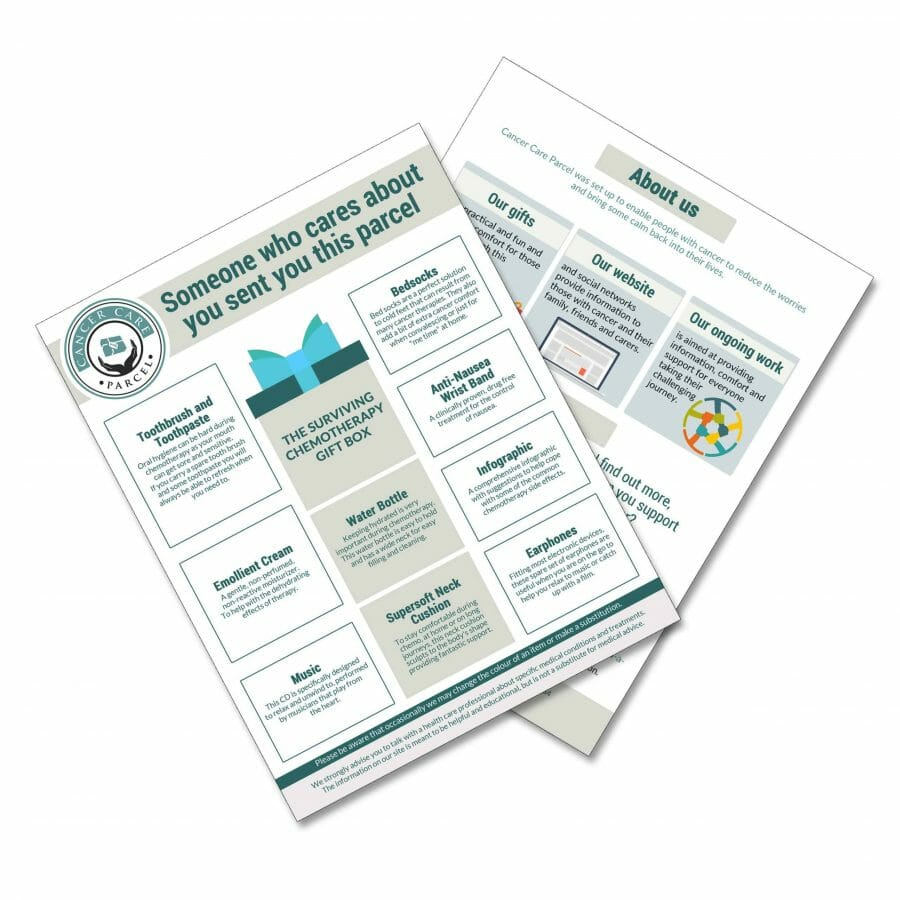 Chemo Care Package Leaflet