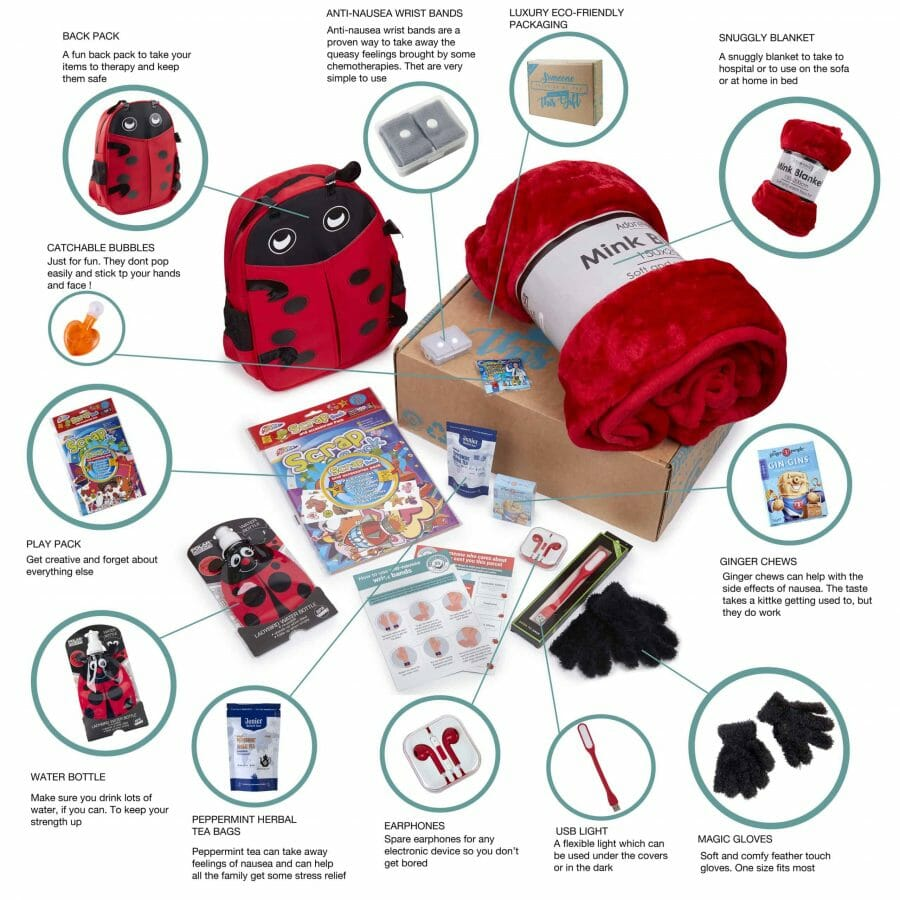 What Is In The Chemotherapy Patient Ladybird Gift Box For Children With Cancer?