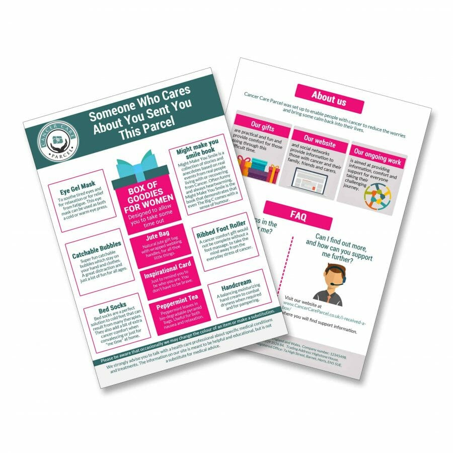 Discover The Womans Goody Pack For Cancer Patients