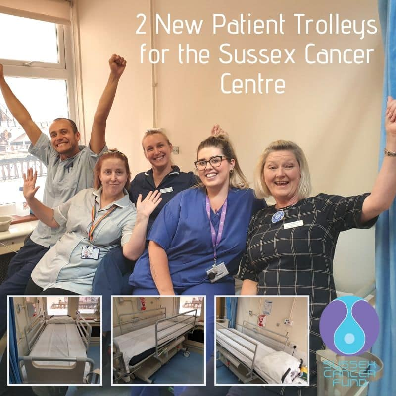 2 New Patient Trolleys For The Sussex Cancer Centre
