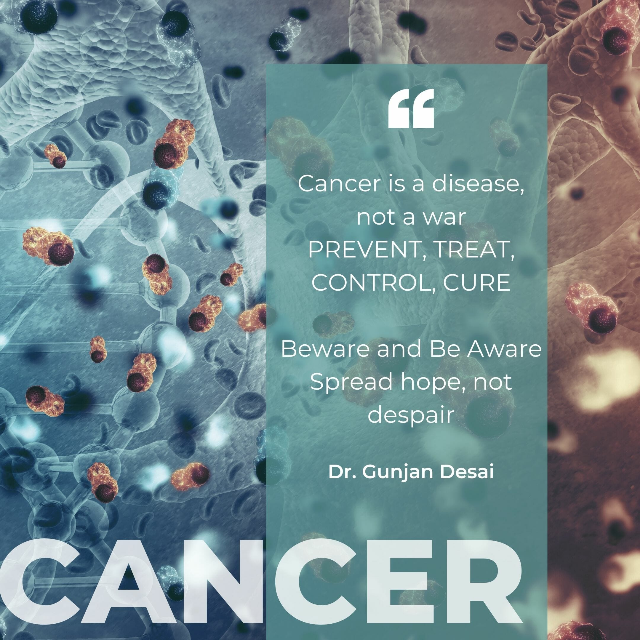 Beware And Be Aware – Cancer Is Not Warfare