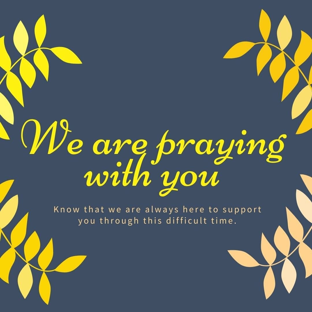 We Are Praying With You