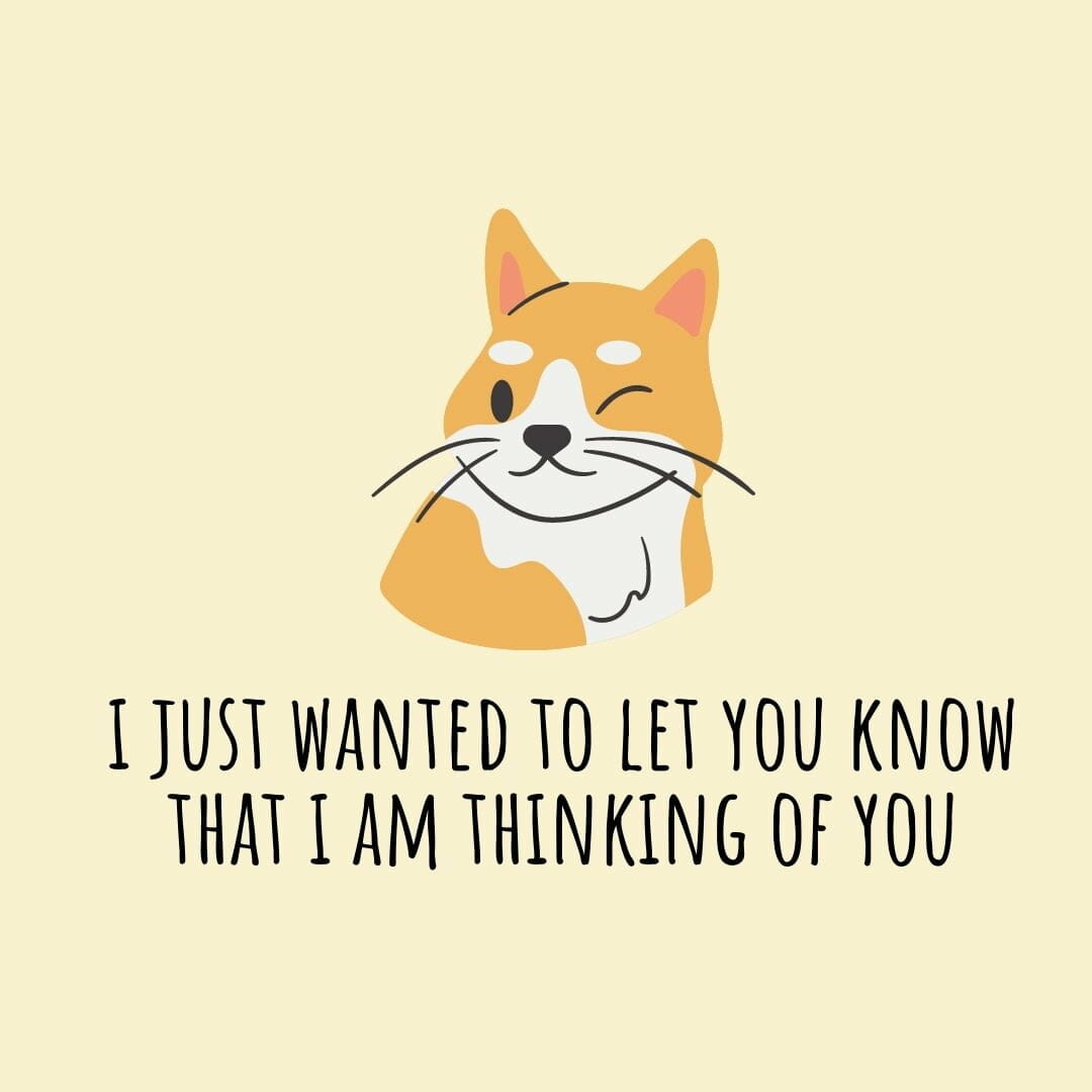 I Just Wanted To Let You Know That I Am Thinking O