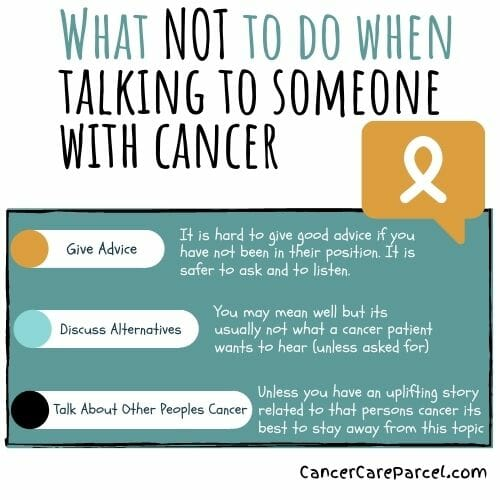 Give Hope And Not Anxiety When Talking To A Person With Cancer