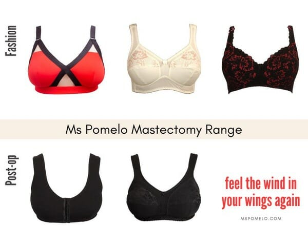 There Are 5 Styles In Our Mastectomy Range: 2 In Post-Operative Kit And 3 In Fashion, Including Red Power We Created For Younger Women.