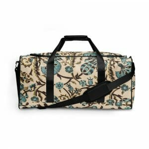 All Over Print Duffle Bag White Front 617572704B6F4