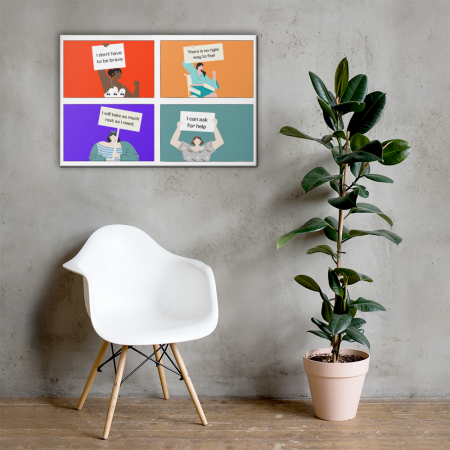 Life Rules Affirmations | Inspirational Canvas Wall Art