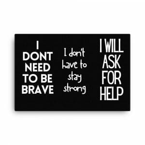 Self-Care Canvas For Men & Women - Brave, Strong, Help