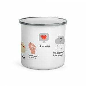 Self Care Woman Enamel Mug