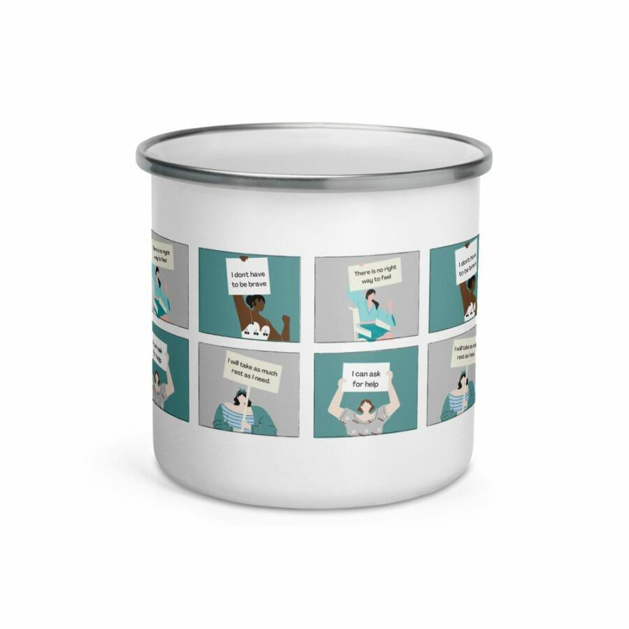 Enamel Mug White 12Oz Front 61656B31B5C1B