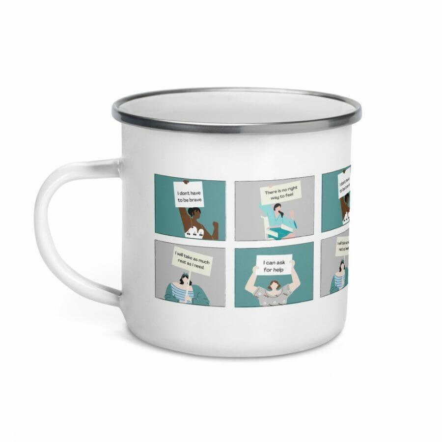 Enamel Mug White 12Oz Left 61656B31B5D25