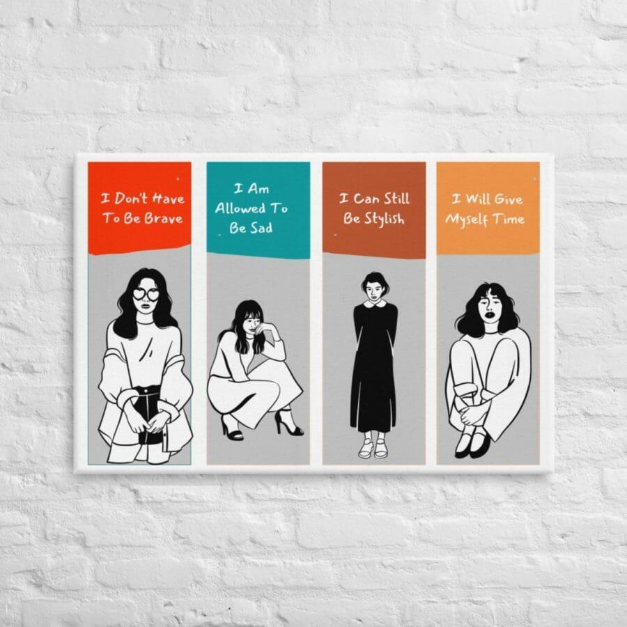 Female Healing Positivity Canvas