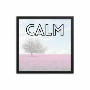 CALM | Inspirational Framed Print