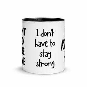 White Ceramic Mug With Color Inside Black 11Oz Front 61656B598B545