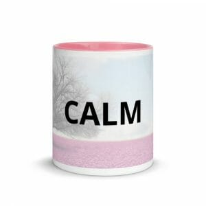 White Ceramic Mug With Color Inside Pink 11Oz Front 616569A4C8Cdc